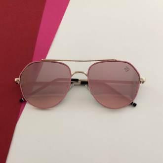Óculos de Sol Rosa Espelhado