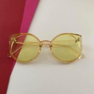Óculos de Sol Lente Transparente Amarelo