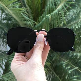 oculos de sol hexagonal preto elisa new