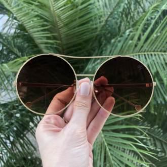 saline.com.br oculos de sol louise marrom com dourado