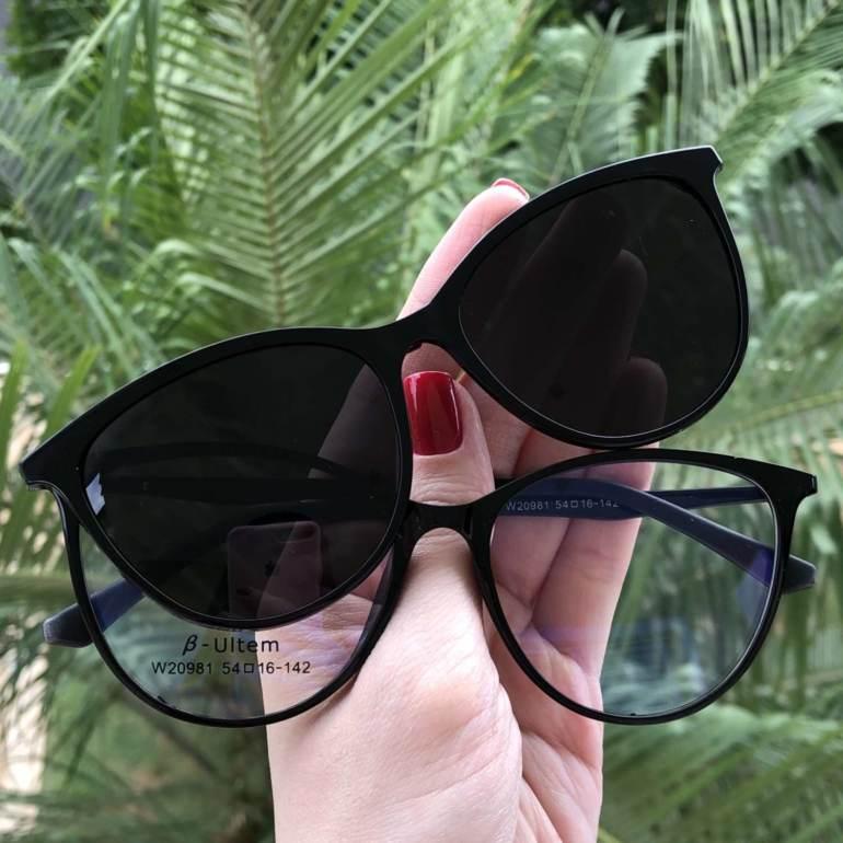 saline.com.br oculos de sol 2 em 1 gatinho preto