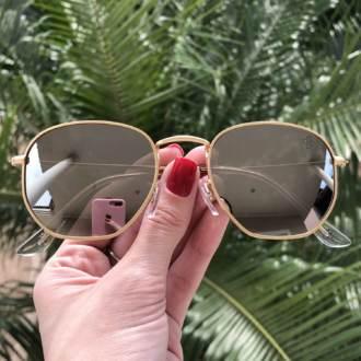 saline.com.br oculos de sol hexagonal espelhado