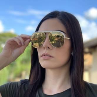 saline.com.br oculos de sol iara branco com espelhado