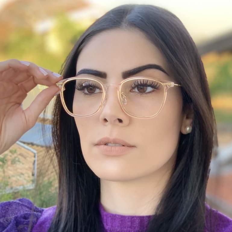 safine com br oculos de grau quadrado rose duda 1