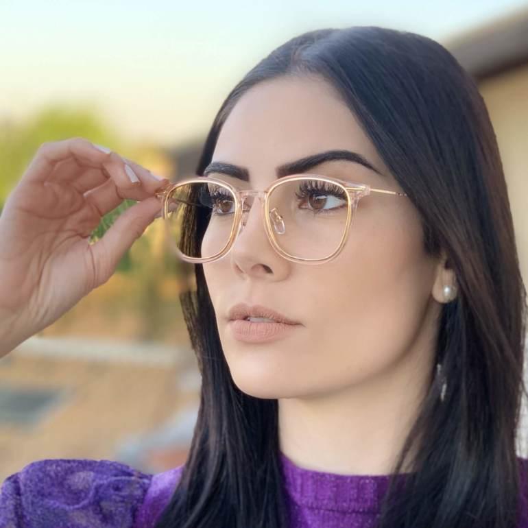 safine com br oculos de grau quadrado rose duda