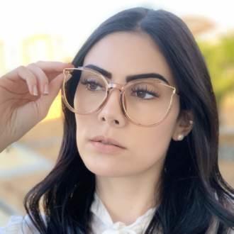 safine com br oculos de grau redondo marrom transparente ariana 4