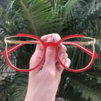 safine com br oculos de grau redondo vermelho ariana