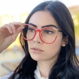 safine com br oculos de grau redondo vermelho ariana 4