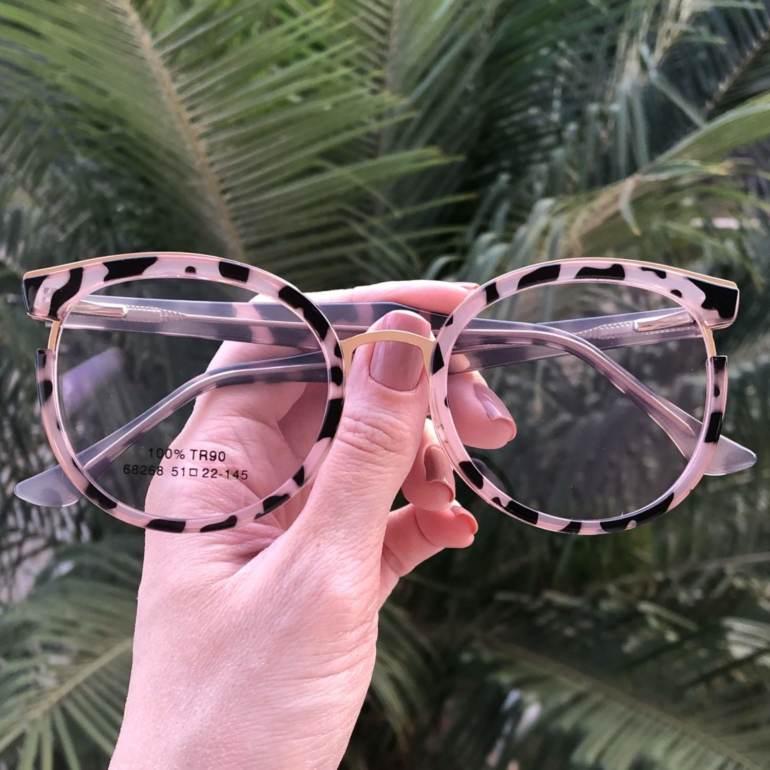 Óculos de Grau Redondo Tartaruga com Preto Eva 2.0 - Safine