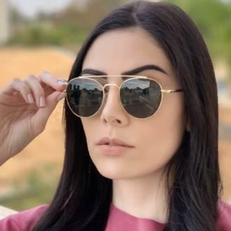 saline.com.br oculos de sol aviador tifany dourado com verde 2