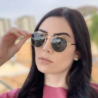 saline.com.br oculos de sol aviador tifany dourado com verde 3