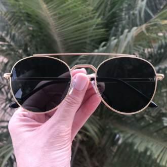 saline.com.br oculos de sol aviador tifany dourado com verde