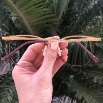 safine com br oculos de grau quadrado marrom transparente clau 1