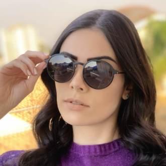 safine com br oculos 2 em 1 redondo preto com prata lolo 2
