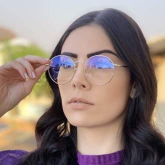 safine com br oculos 2 em 1 redondo preto com prata lolo