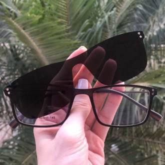 safine com br oculos 2 em 1 retangular grafite new