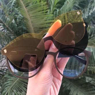 safine com br oculos 3 em 1 redondo marrom malu