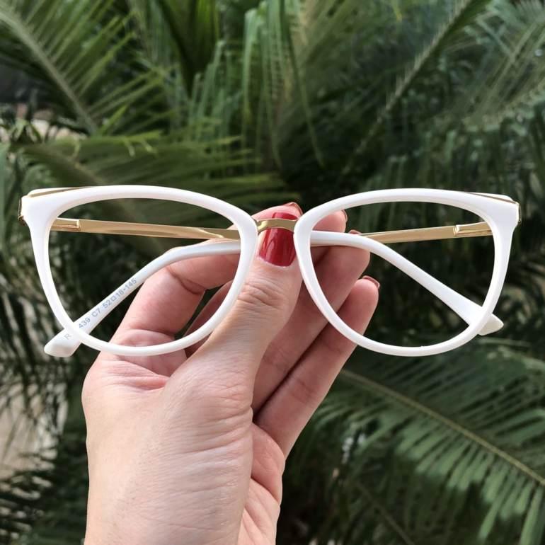 safine com br oculos de grau gatinho branco fran 3