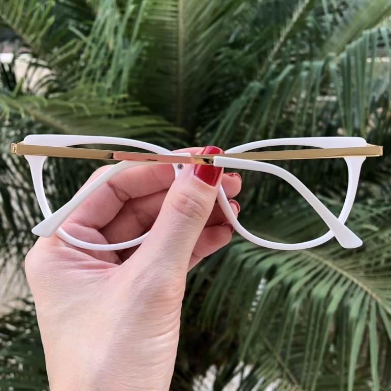 safine com br oculos de grau gatinho branco fran 4