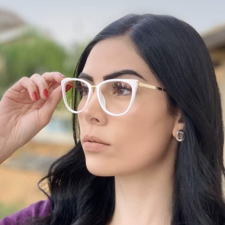 safine com br oculos de grau gatinho branco fran