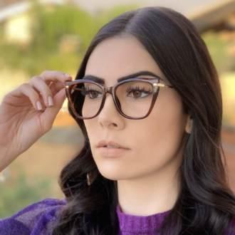 safine com br oculos de grau gatinho marrom bela 1