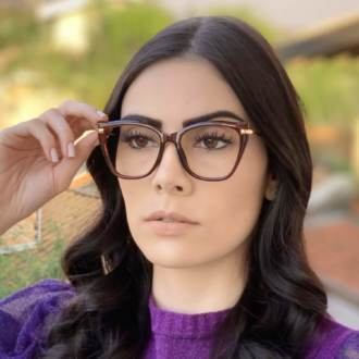 safine com br oculos de grau gatinho marrom bela 2