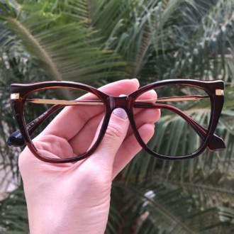 safine com br oculos de grau gatinho marrom bela 3