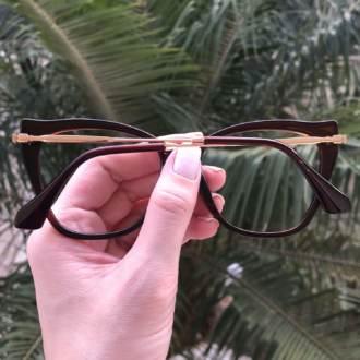 safine com br oculos de grau gatinho marrom bela 4