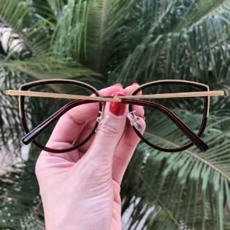 safine com br oculos de grau gatinho marrom cecilia 1