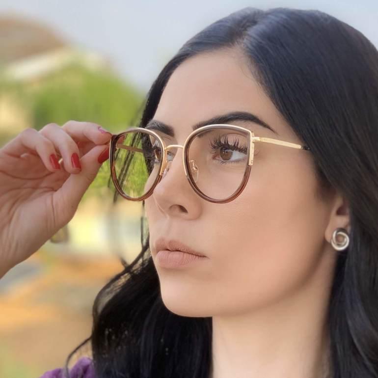 safine com br oculos de grau gatinho marrom cecilia 2
