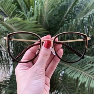 safine com br oculos de grau gatinho marrom cecilia