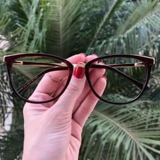 safine com br oculos de grau gatinho marrom fran