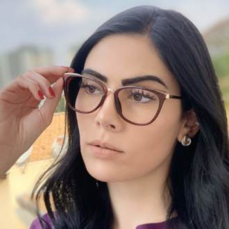 safine com br oculos de grau gatinho marrom fran 4