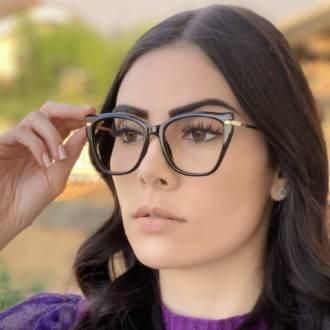 safine com br oculos de grau gatinho preto bela 3