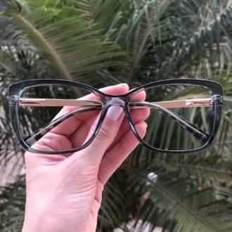 safine com br oculos de grau quadrado azul sue 3