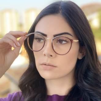 safine com br oculos de grau redondo marrom bru 2