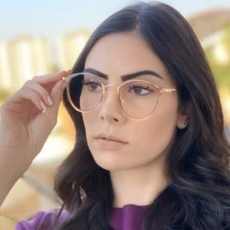 safine com br oculos de grau redondo marrom transparente bru 4