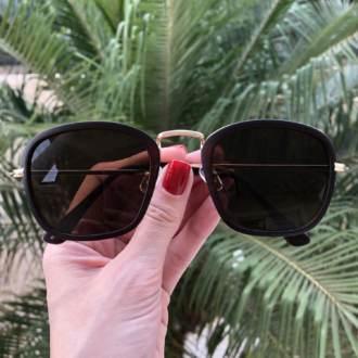safine com br oculos de sol quadrado marrom fosco luiza