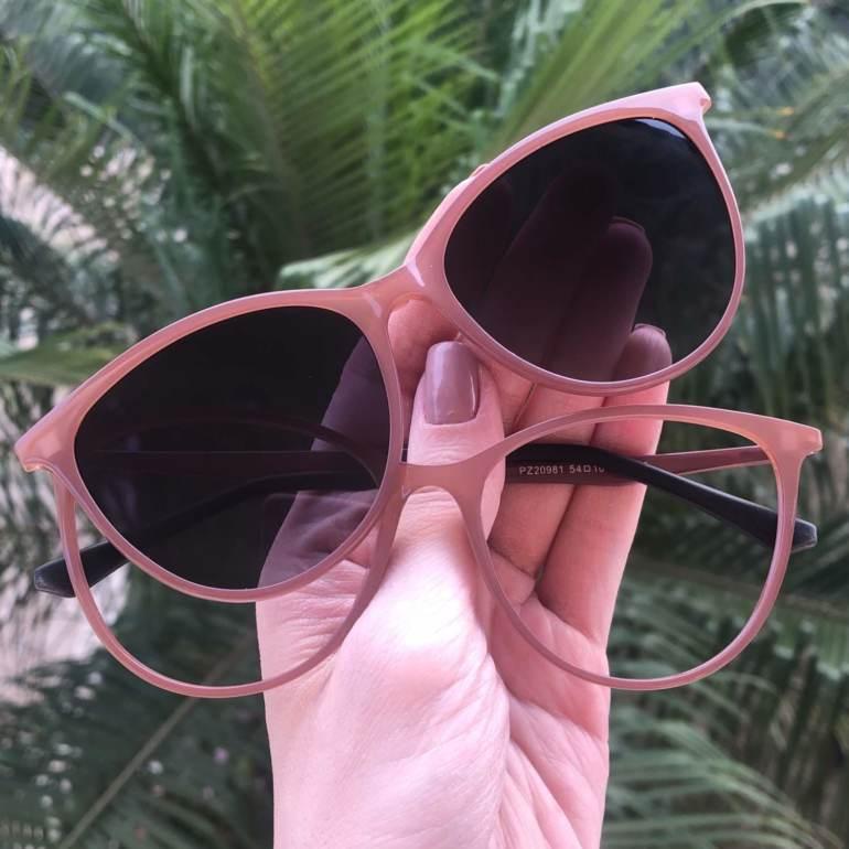 safine com br oculos 2 em 1 gatinho rosa