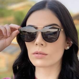 safine com br oculos 2 em 1 redondo dourado com preto babi