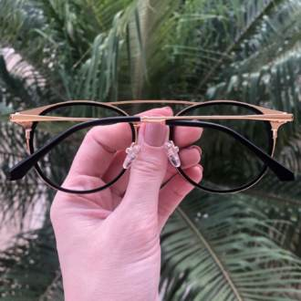 safine com br oculos 2 em 1 redondo dourado com preto babi 4