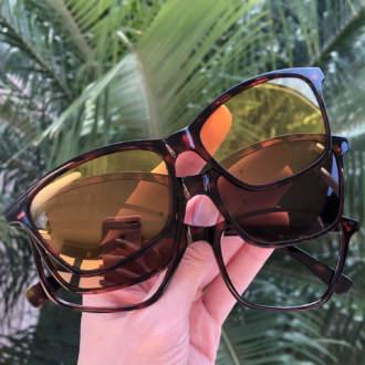safine com br oculos 3 em 1 retangular tartaruga sarah