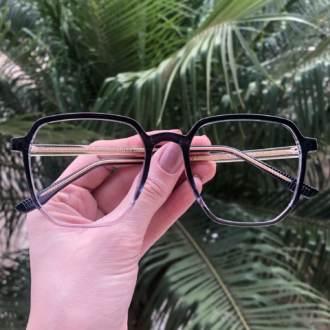 safine com br oculos de grau quadrado azul mage 3