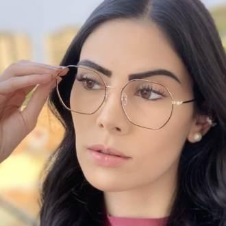 safine com br oculos de grau quadrado dourado com marrom carol 4