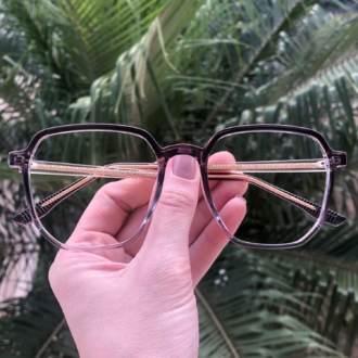 safine com br oculos de grau quadrado lilas mage 3