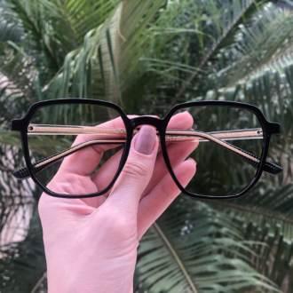 safine com br oculos de grau quadrado preto mage