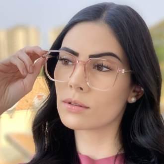 safine com br oculos de grau quadrado rosa mage 2