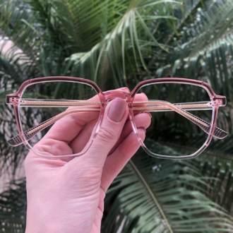safine com br oculos de grau quadrado rosa mage 3