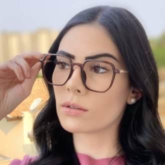 safine com br oculos de grau quadrado roxo mage 2