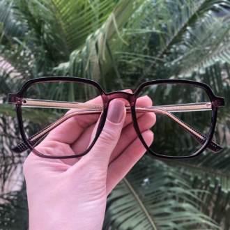 safine com br oculos de grau quadrado roxo mage 3